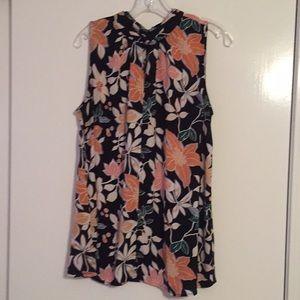 LOFT Floral Sleeveless Tunic, Small